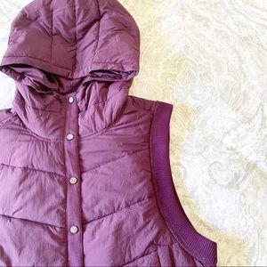FREE PEOPLE Nature Seeker Puffer Vest Purple NWT